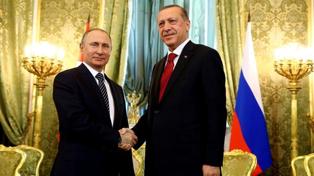 Erdoğan ve Putin görüşmesinden ilk kareler