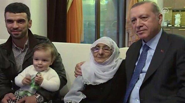 أردوغان يزور رياضيًا تركيًا في بيته
