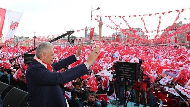 Başbakan Yıldırım, Sivas'ta konuşuyor