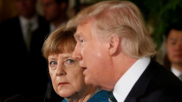 Germany's Chancellor Angela Merkel and U.S. President Donald Trump hold a joint news conference