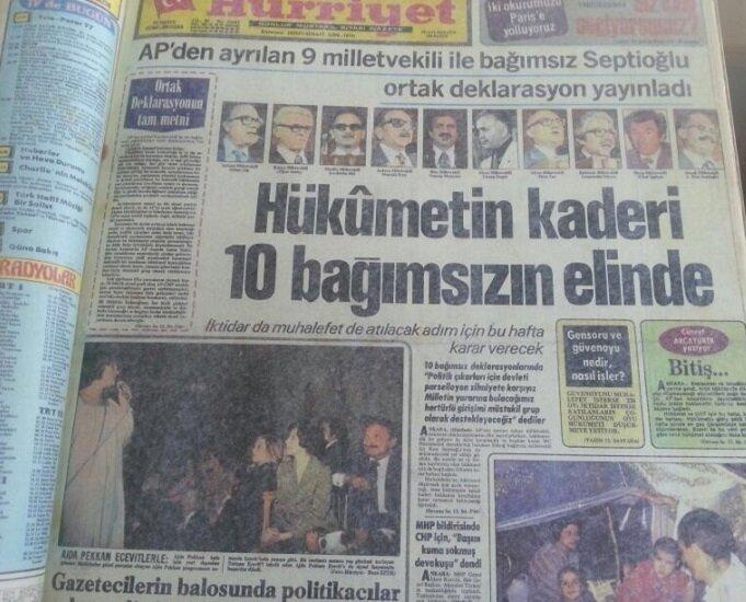 Güneş Motel'de AP'den istifa eden milletvekilleri ile görüşen Ecevit yeni hükümeti kurdu.