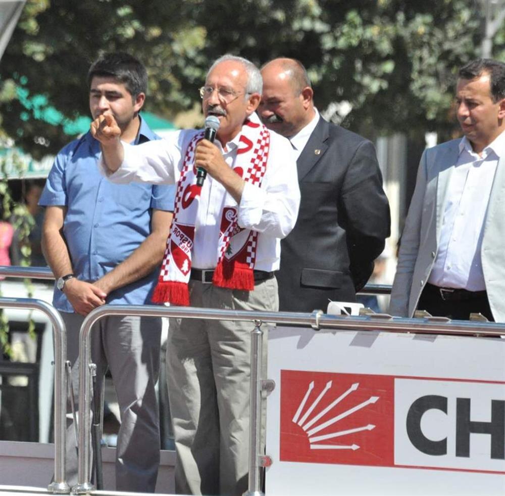 CHP Genel Başkanı Kemal Kılıçdaroğlu 'hayır' mitinginde.