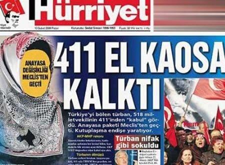 Hürriyet gazetesinin tepki çeken manşeti.