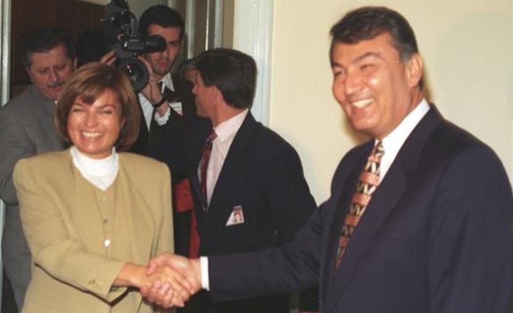 Başbakan Tansu Çiller, Başbakan Yardımcısı Deniz Baykal.
