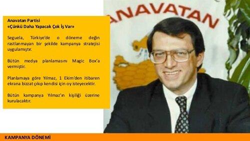 1991 seçimlerinde ANAP'ın lider odaklı kampanya görseli.