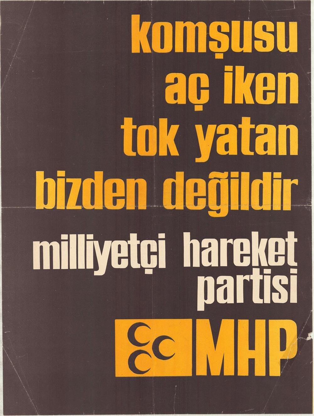 1977 seçimlerinden afiş.