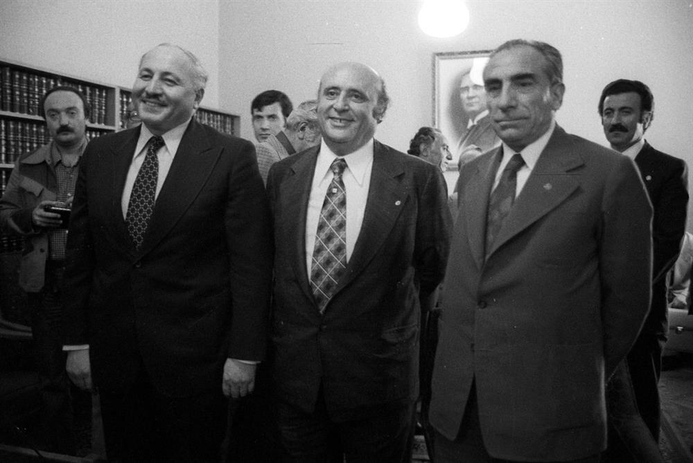 Necmettin Erbakan, Süleyman Demirel ve Alparslan Türkeş.
