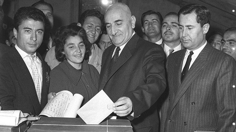 Başgil hem adaylıktan vazgeçip, hem de senatörlükten istifa edince Gürsel seçime tek aday olarak katıldı. (BYEGM arşivi)