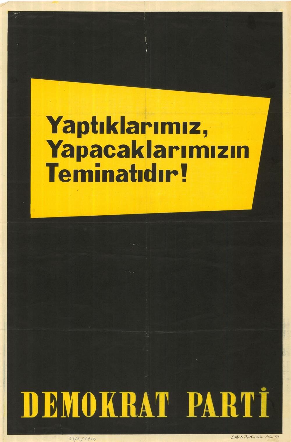 DP seçim afişi