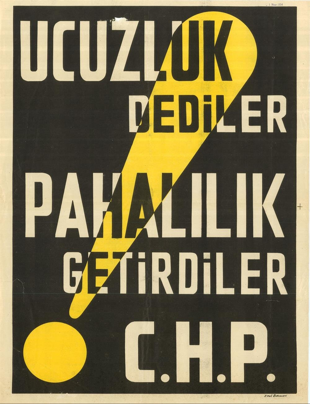 CHP seçim afişi