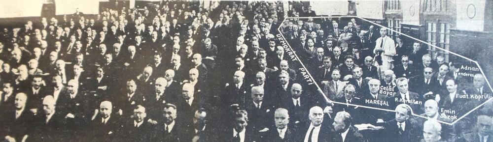 Cumhurbaşkanlığı seçimleri öncesinde Meclis dağılımını gösteren bir gazete fotoğrafı.