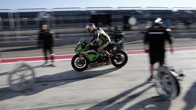 Milli motosikletçi sakatlığının ardından bu sezonki ilk yarışına çıkmıştı.