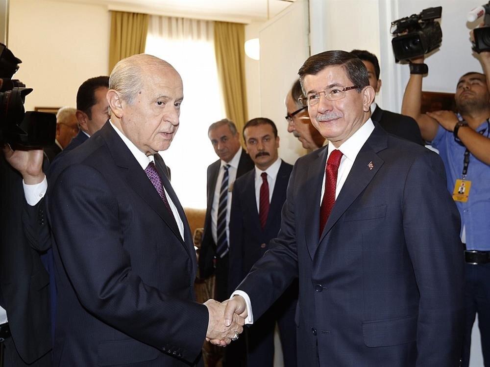Davutoğlu ve Bahçeli'nin koalisyon görüşmesi sonuç vermedi.