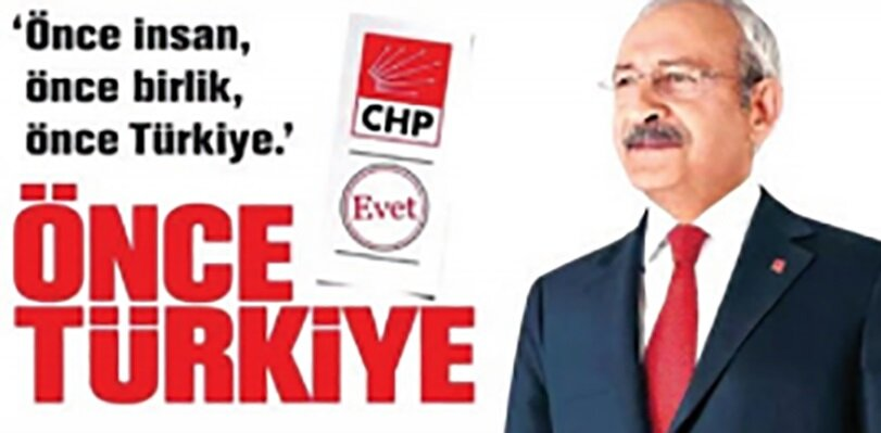 CHP seçim afişi.