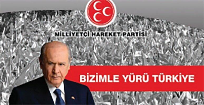 MHP seçim afişi.