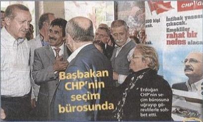 Başbakan Erdoğan'ın CHP ziyaretini konu alan haber.