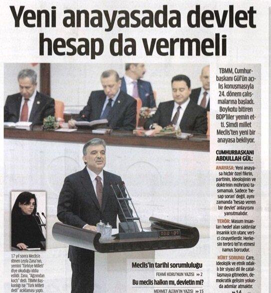 TBMM açılışında Abdullah Gül'ün konuşması.