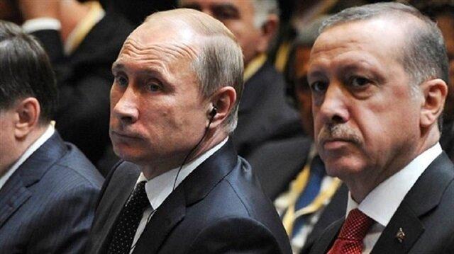 Russian President Vladimir Putin and Turkish President Recep Tayyip Erdoğan.