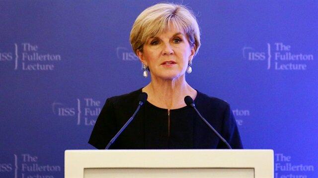 Avustralya Dışişleri Bakanı Julie Bishop, Esed rejimine sert tepki gösterdi.