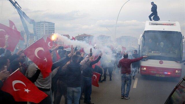 Cumhurbaşkanı Erdoğan'a Ankara'da coşkulu karşılama