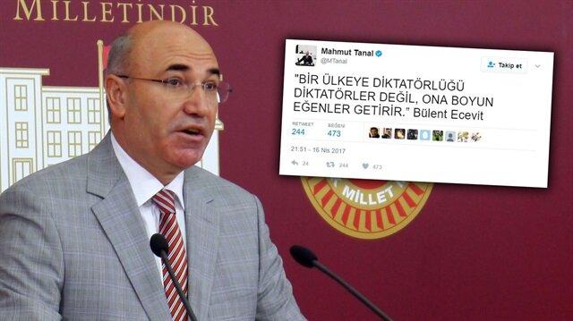 CHP'li Tanal'ın<br>  'demokrasi' hazımsızlığı