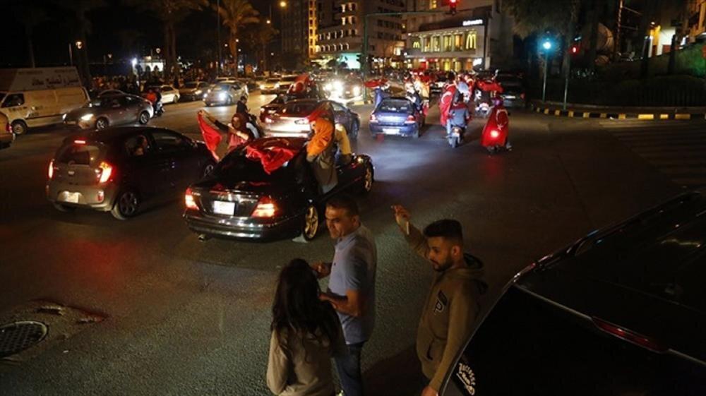 Turks in Lebanon celebrates the result.