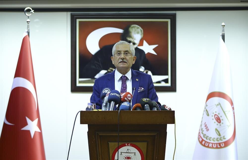 YSK Başkanı açıklama yaptı.