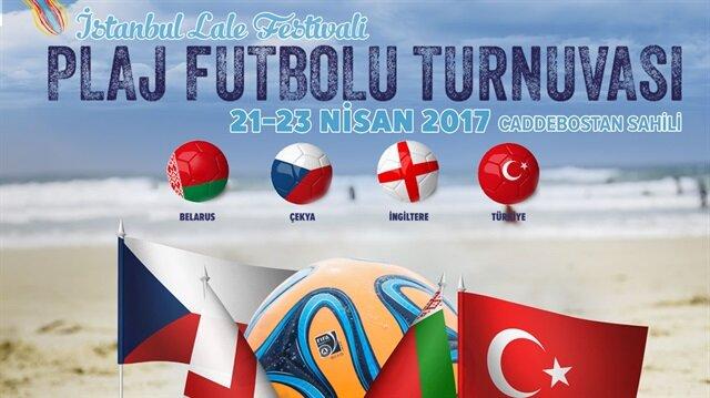 İstanbul'da plaj futbolu heyecanı
