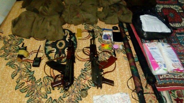 PKK'lılar silahları camiye gizlemiş