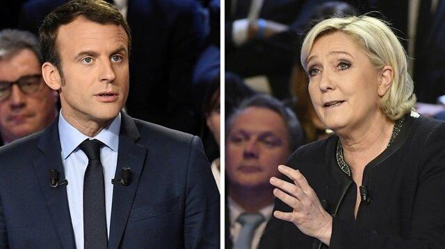 Fransa'da Macron ve Le Pen ikinci turda