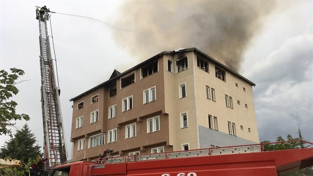 Burdur'un Gölhisar ilçesinde  FETÖ ile bağlantısı nedeniyle kapatılan dershanede çıkan yangın, hasara neden oldu.