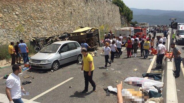 Muğla'da midibüs devrildi: 24 ölü