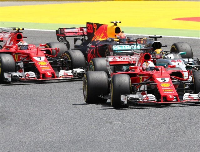 Hamilton wins in Spain with Vettel second