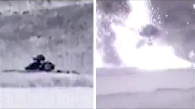 Azerbaycan, Ermenistan'a ait hava savunma füze sistemini vurarak imha etti.