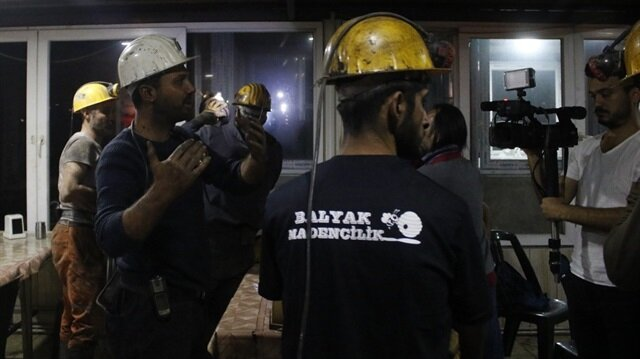 Rescued mine workers in Antalya