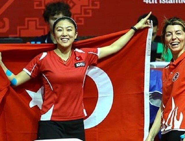 """تنس الطاولة: فضية وبرونزية لتركيا بـ""""ألعاب التضامن الإسلامي"""""""