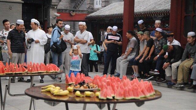 Çin'de ilk iftar yapıldı