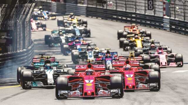 Formula 1 Monaco yarışı Sebastian Vettel'in