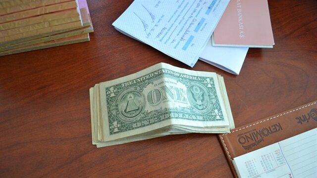 Aramada 29 adet bir dolar bulundu.