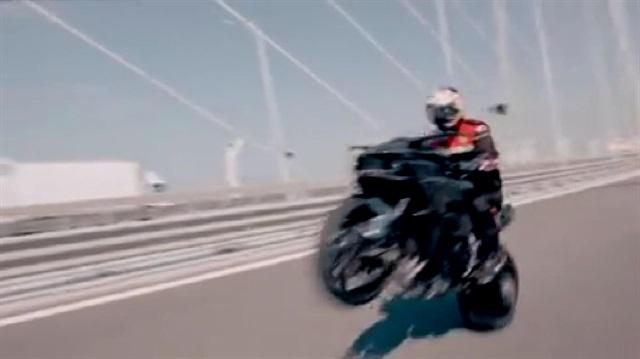 Kenan Sofuoğlu'nun hız rekoru kırdığı anlar kask kamerasında