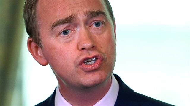 Tim Farron, leader of Britain's Liberal Democrat Party