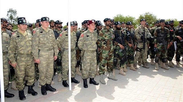 Archive: Turkish and Pakistani soldiers made a joint military maneuver.