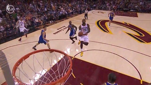 NBA finalinde LeBron James'ten inanılmaz basket