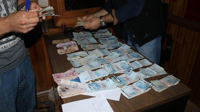 Dilencinin üzerinden 28 bin bankadan 450 bin lirası çıktı