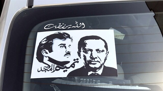 Erdoğan posters receive great interest in Qatar