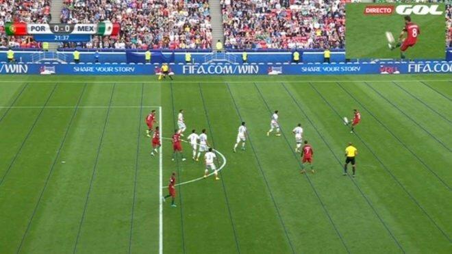 Bugünün ilk maçında nPepe'nin attığı golde Nani'nin ofsaytta olduğu tespit edilirken gol de iptal edildi.