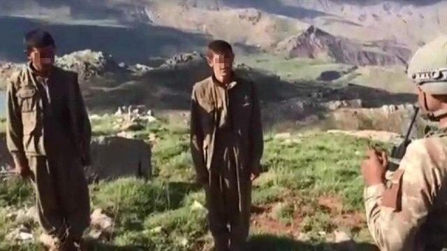 Siirt'te 2 teröristin daha teslim olma görüntüleri ortaya çıktı.