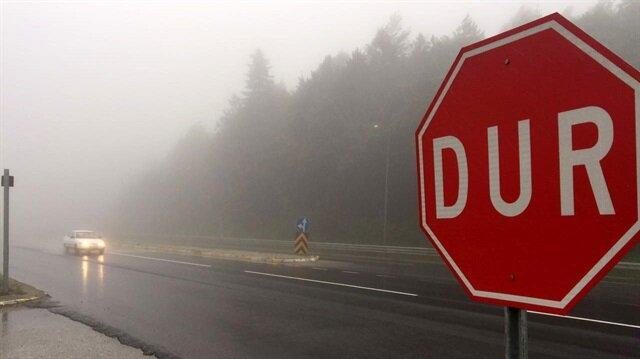 sis nedeniyle görüş mesafesi, bazı noktalarda 25 metreye kadar düştü