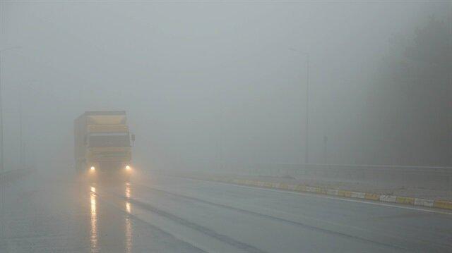 Bolu Dağı'nda yoğun sis etkili oluyor
