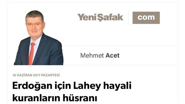 Erdoğan için Lahey hayali kuranların hüsranı